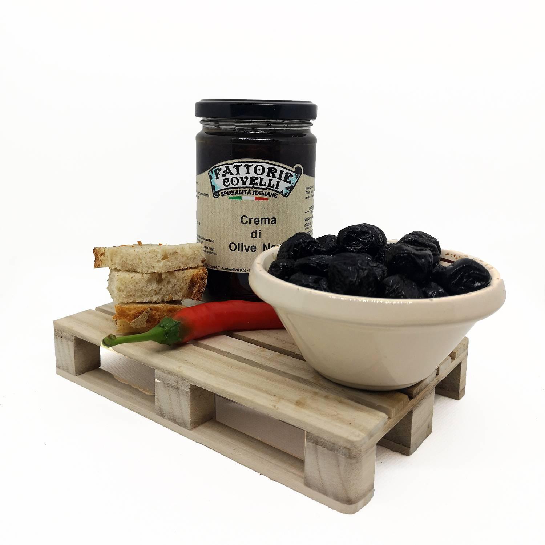 Crema di olive nere - assaggio