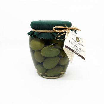 Olive verdi giganti al naturale - vasetto in vetro