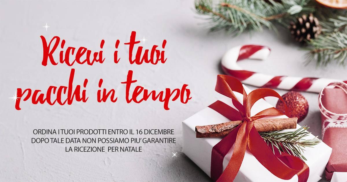 Vuoi ricevere i tuoi prodotti per Natale? Fino al 16 dicembre è possibile.